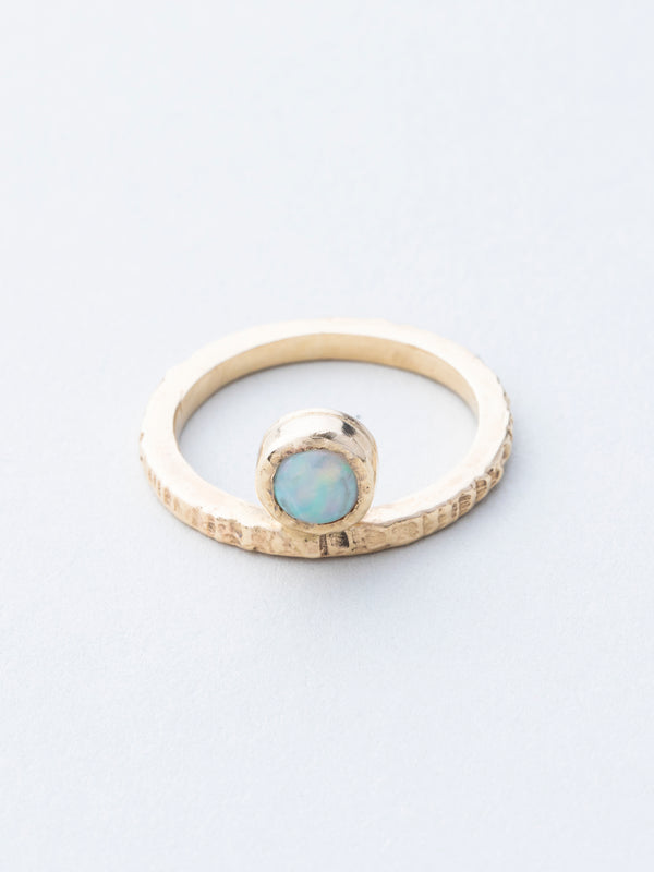 Opal and Yellow Gold Ring (One of a Kind)