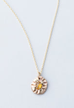 Load image into Gallery viewer, Yellow Sapphire and Gold Necklace