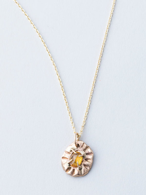Yellow Sapphire and Gold Necklace