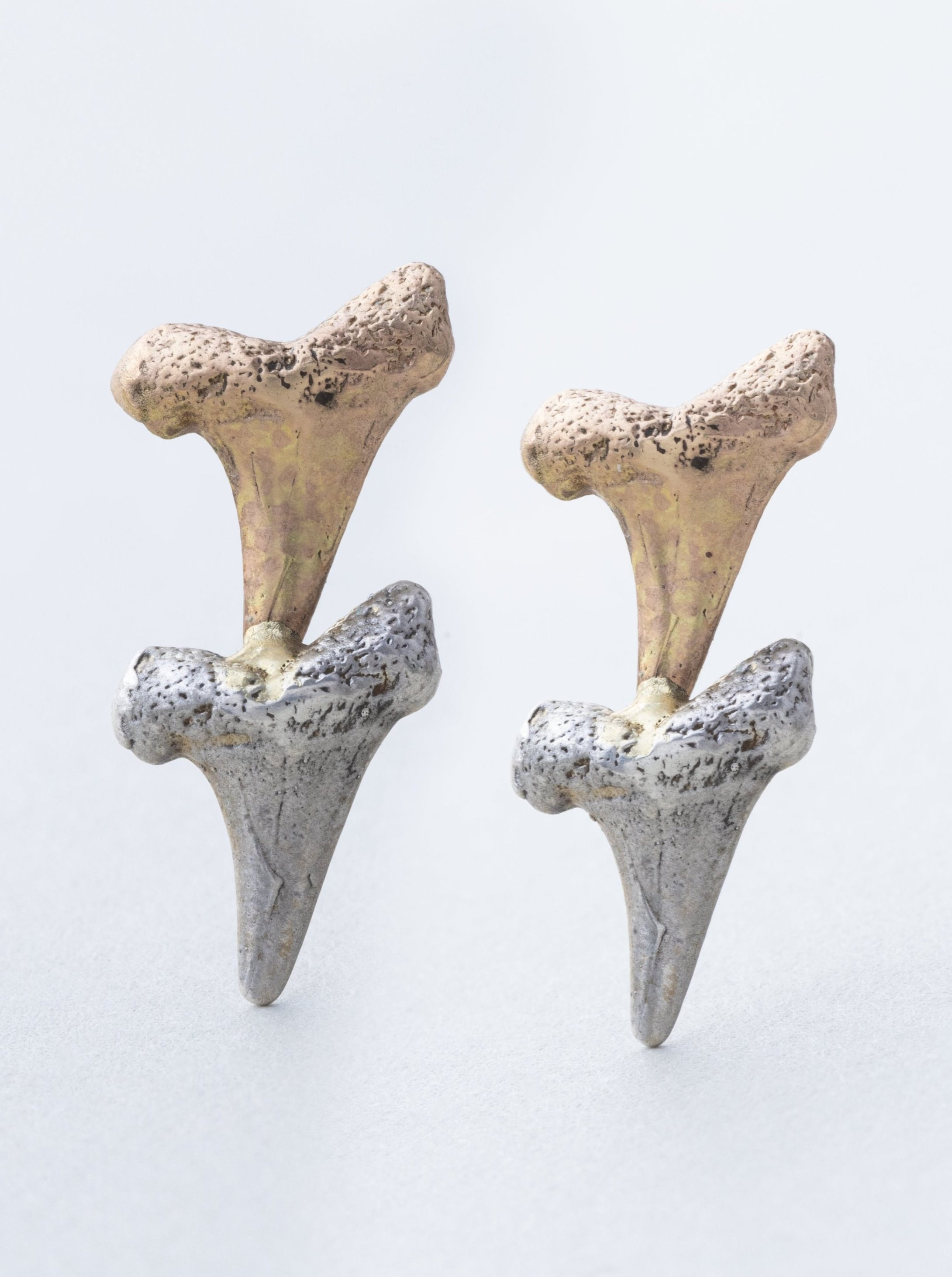 Gold and Silver Shark Teeth