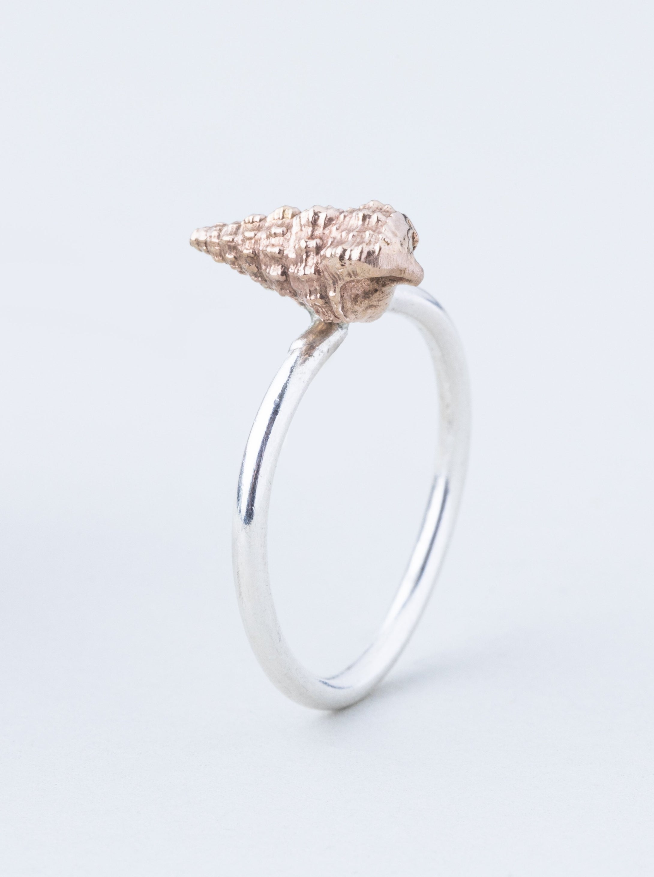 Long Twisting Shell Stack Ring