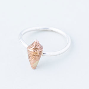 Tiny Shell Stacking Ring