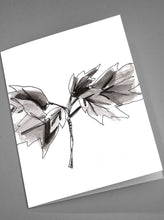 Load image into Gallery viewer, Black and White Floral Notecards
