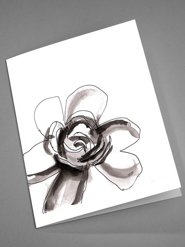 Black and White Floral Notecards