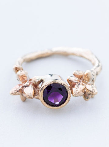 Amethyst and Gold Twig