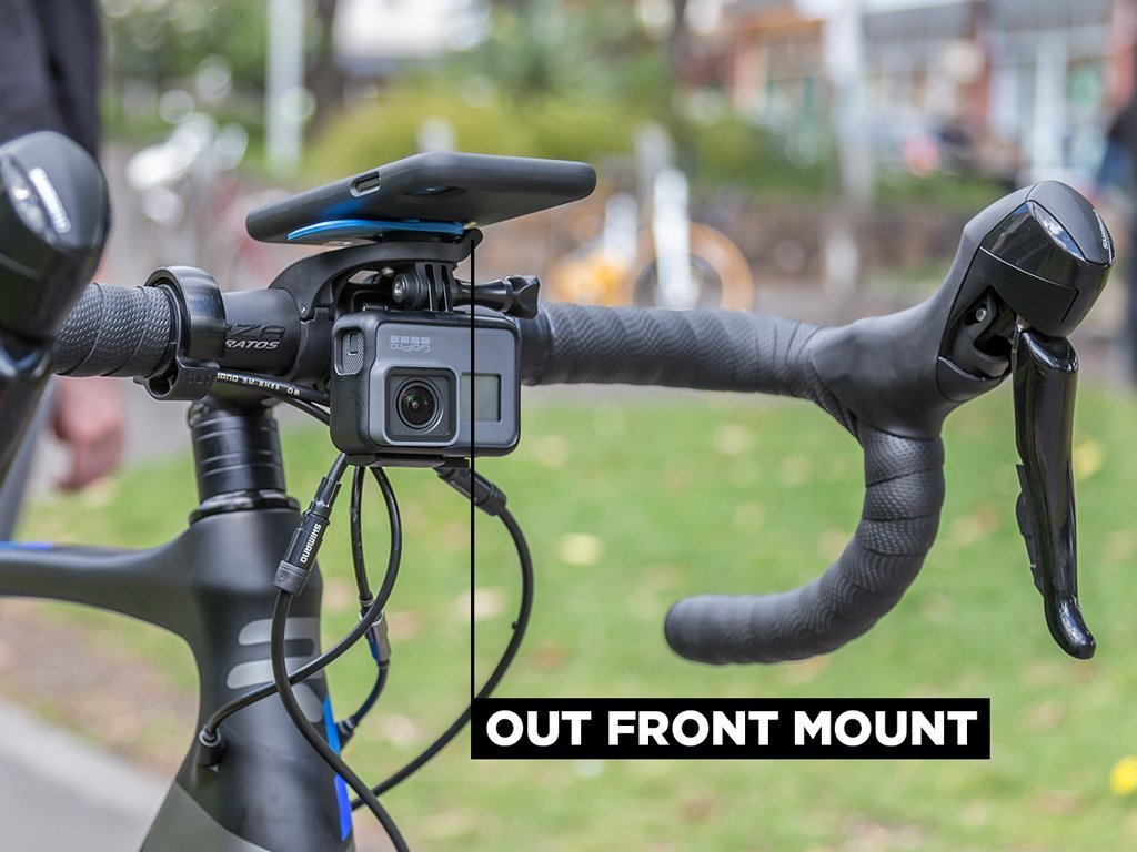 out front mount with action camera adaptor gopro