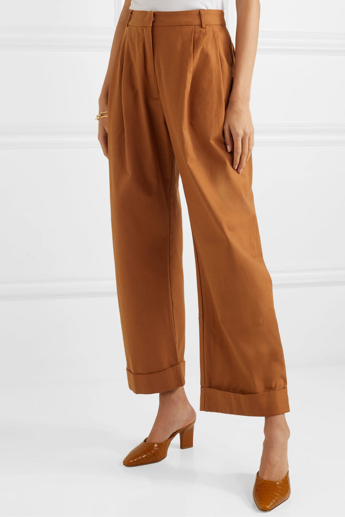 Wide leg tailored pant