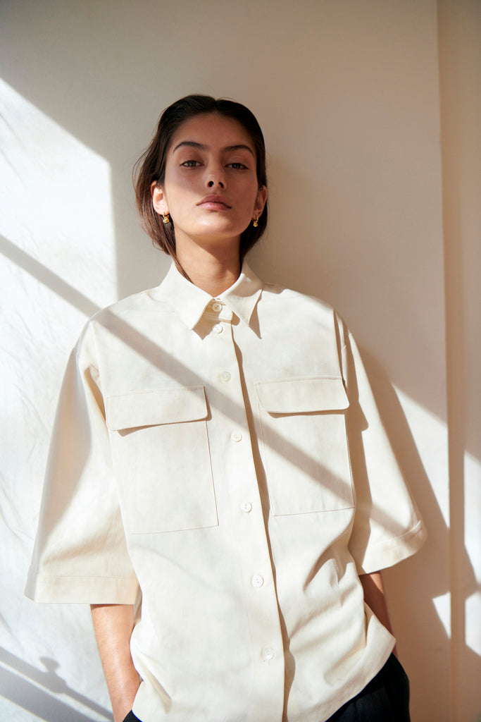 Boxy Canvas Shirt