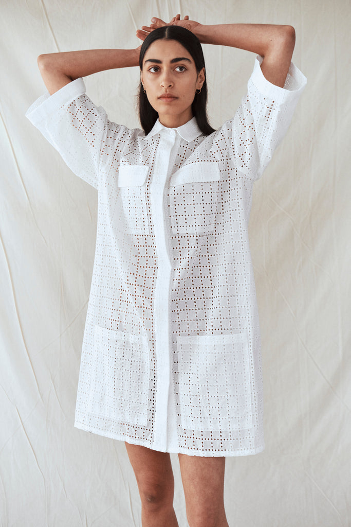 Broderie Anglais Shirt Dress