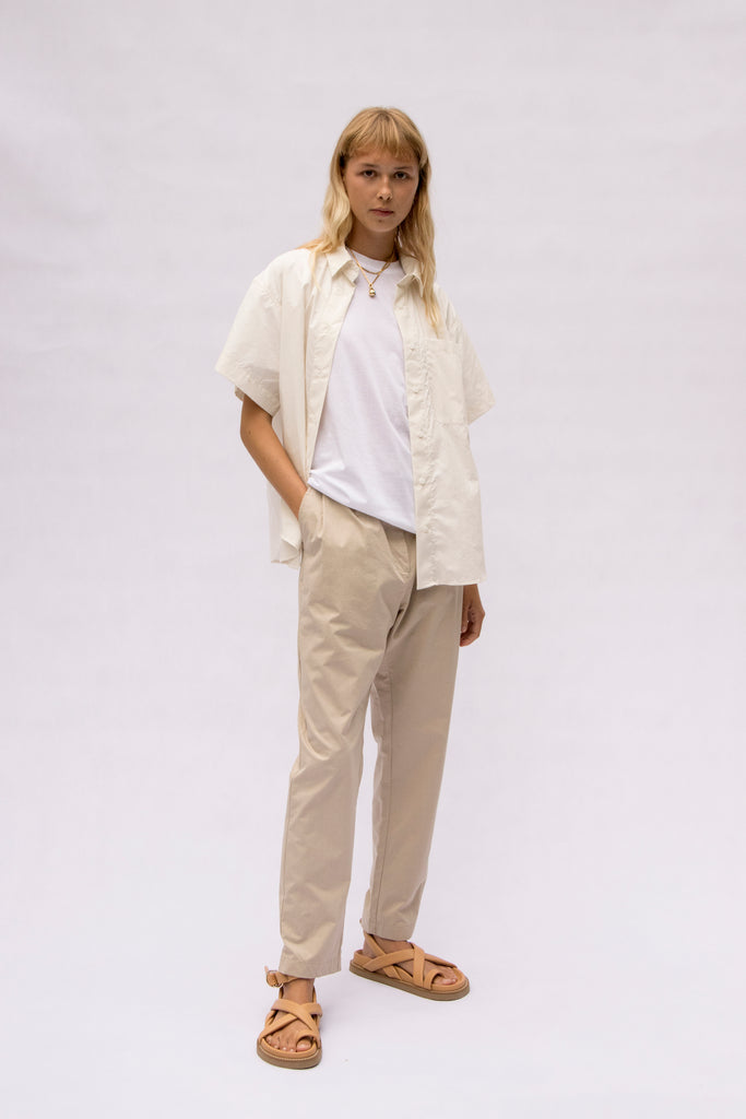 cotton pleat pant