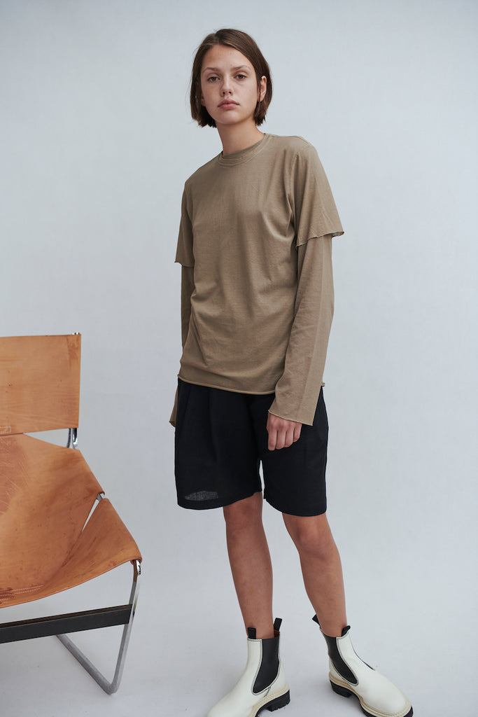 fine knit short sleeve t.shirt