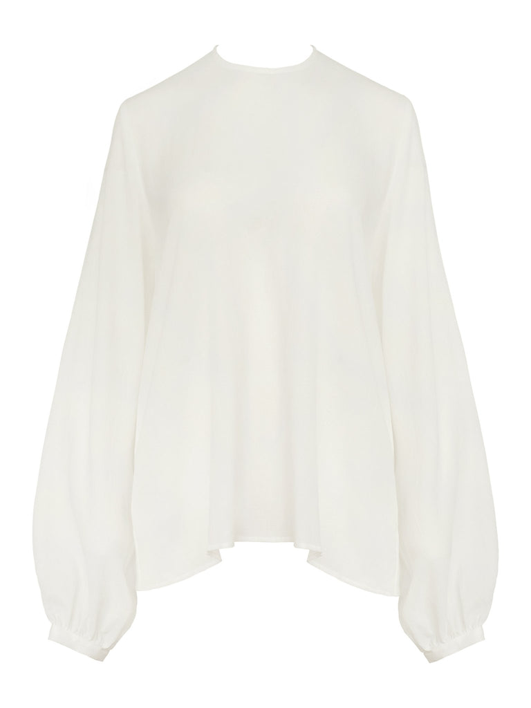 white full sleeve top