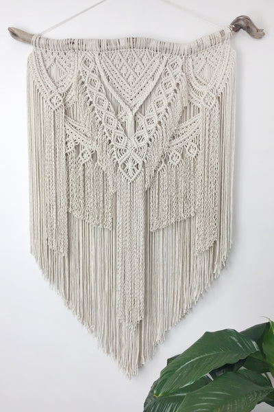 Large Macrame Wall Hanging on Driftwood