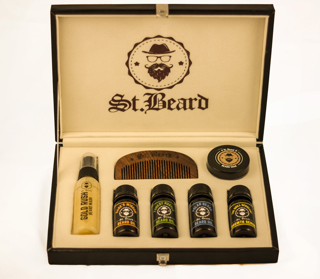 the all essential beard grooming kit saint beard grooming products for men. Black Bedroom Furniture Sets. Home Design Ideas