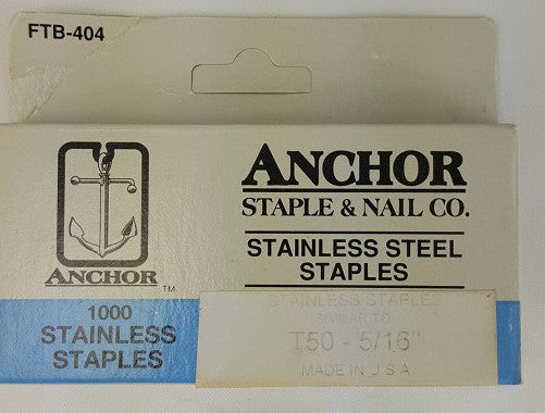 "Stainless Steel Staples, 5/16 "" (1000)"
