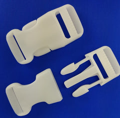 "Side Release Buckle, 1"", White"