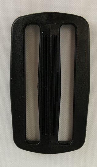 "Double Slide 2"", Black Plastic"