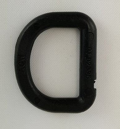 D-Ring, Black Plastic, 1""