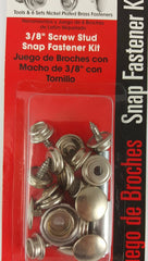 "Snap Fastener Kit 3/8"" screw"