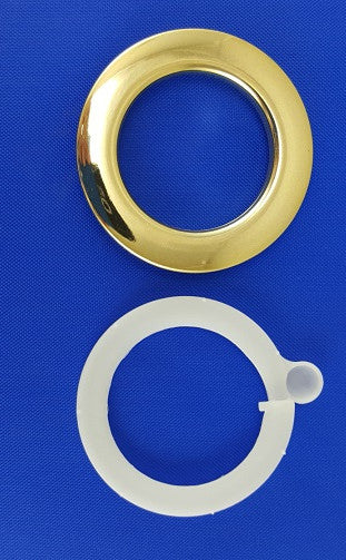 "Polished Brass Heavy Grommets, 1 3/8"" (10 pack)"