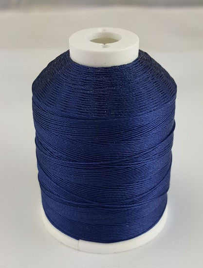 (Marine Blue) Marine Bonded Nylon Thread, V 69 Weight. (100% Nylon)
