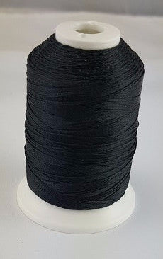 (Black) Marine Bonded Nylon Thread, V 69 Weight. (100% Nylon)
