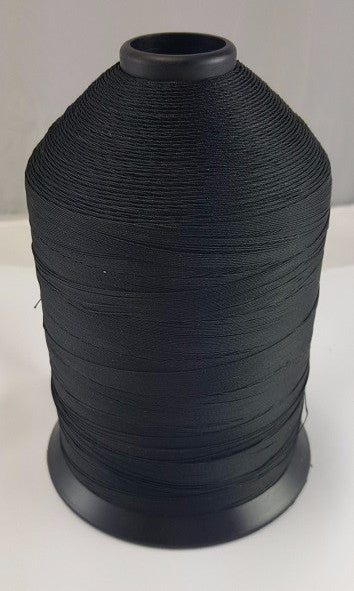 (Black) Heavy Thread, V 92 Polyester, 1 lb. Spool