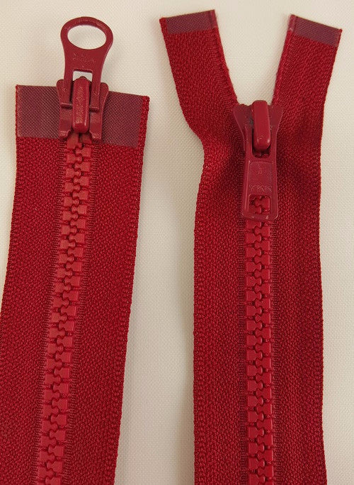 (Cranberry) Nylon Two Way Jacket Zipper, 26""