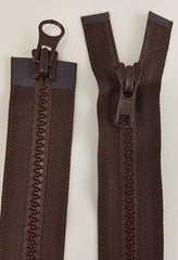 (Brown) Nylon Two Way Jacket Zipper, 30""