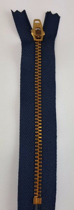 (Navy) Jeans Zipper, 5""
