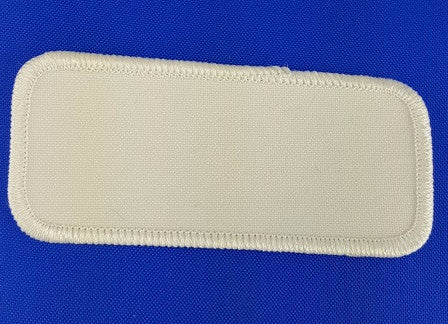 "Rectangle (White on White) Blank Embroidery Patch , 1 5/8"" x 3 5/8"""