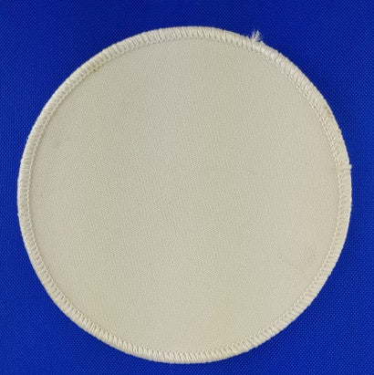 "(White on White) Blank Embroidery Patch , 3 1/2"" Circle"