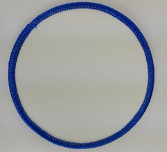 "(Blue on White) Blank Embroidery Patch , 3 1/2"" Circle"