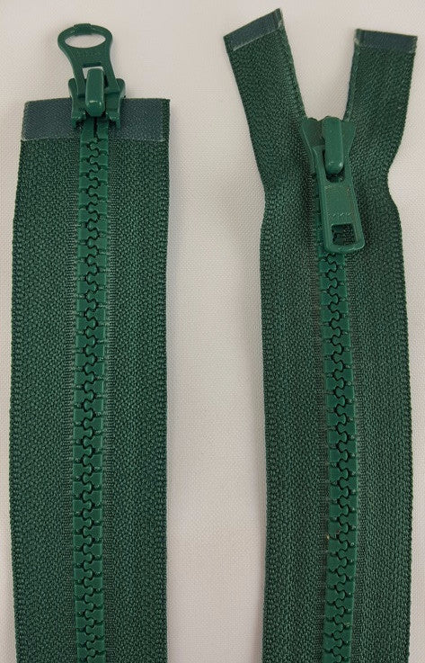(Dark Green) Nylon Two Way Jacket Zipper, 26""