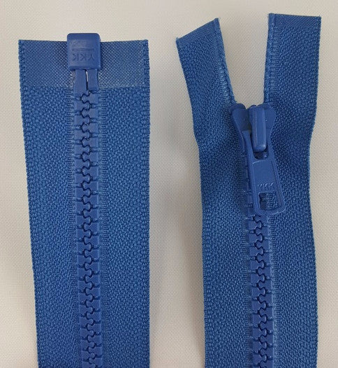 (Rocket Blue) Nylon Jacket Zippers, One Way, Molded Teeth 24""