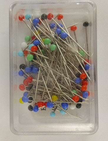 Glass Head Pins, 1 1/4""