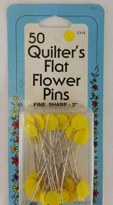 Quilter's Flat Flower Pins