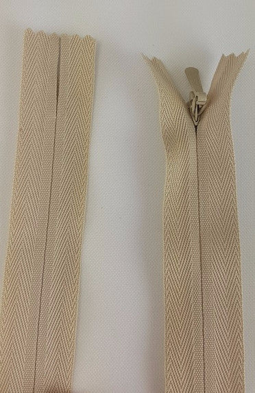(Natural) Invisible Zippers, Closed Bottom, 9""