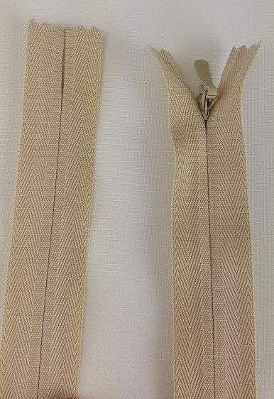 (Natural) Invisible Zippers, Closed Bottom, 22""