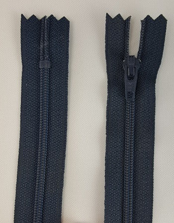 (Navy) Dress Zipper, 14""