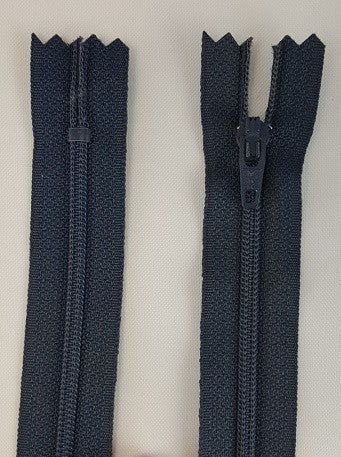 (Navy) Dress Zipper, 18""