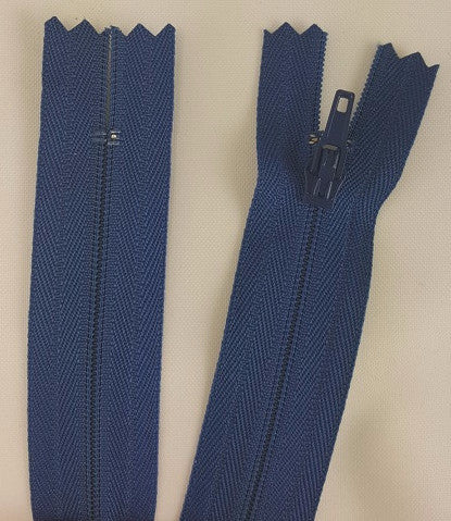 (Royal Blue) Pants Zippers 9""