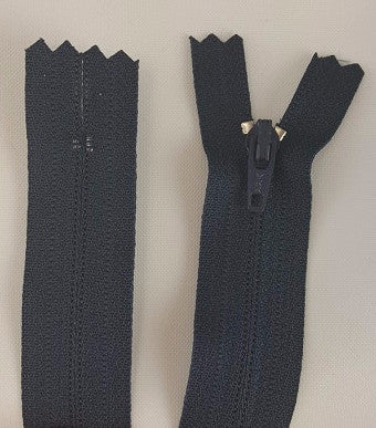 (Navy) Pants Zippers 9""