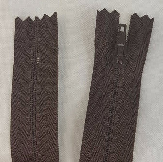 (Brown) Pants Zippers 9""