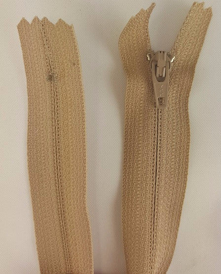 (Beige) Pants Zippers 9""