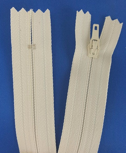 (Cream) Pants Zippers 9""