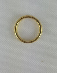 Sew On Rings - Brass Plated (single)