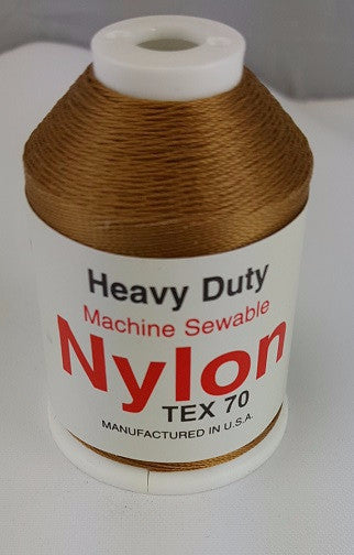 (Gold) Marine Bonded Nylon Thread, V 69 Weight. (100% Nylon)