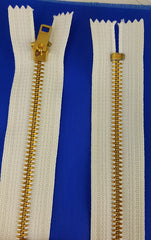 White Zipper Brass 36'' (each)