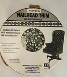 #5 Pewter Nailhead Trim with Pewter Nails (50 yard kit)